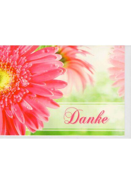 Dankesgrußkarte Blumenblüte