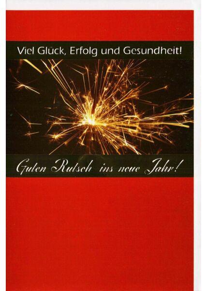 Neujahrskarten Business Neujahrskarte mit Folienprägung