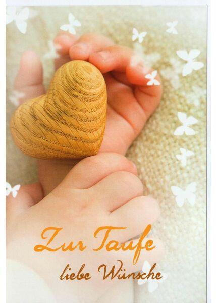 Grußkarte Taufe Wünsche Herz