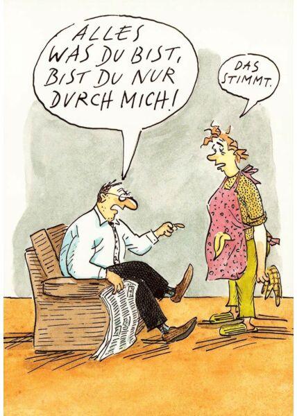Postkarte lustig Spruch Alles was du bist
