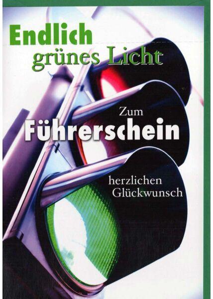 Karte Führerschein: grüne Ampel