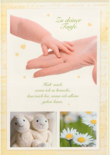 Glückwunschkarte Taufe Kinderhand