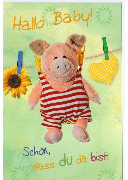 Grußkarte Geburt Hallo Baby