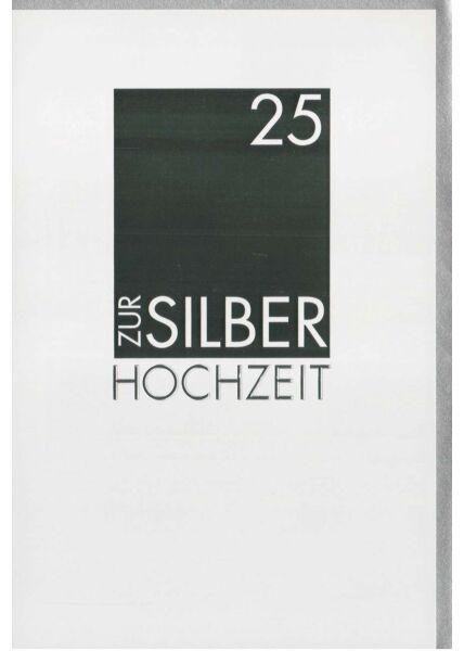 Silberhochzeit Glückwunschkarte stilvoll modern