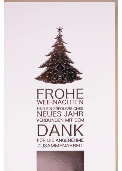 Geschäftliche Weihnachtskarte Business Dank
