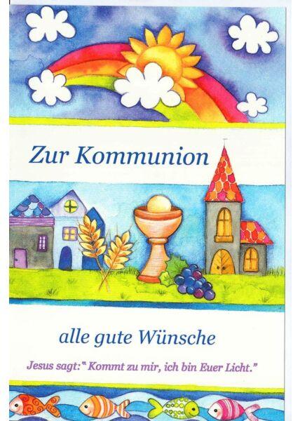 Kommunionskarte mit Jesus Spruch