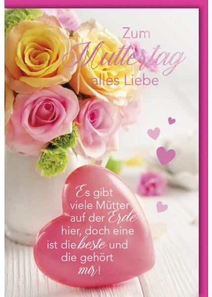 Muttertagskarte - Herz mit Text