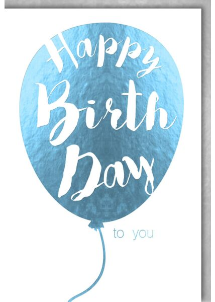 Geburtstagskarte deluxe Luftballon türkis