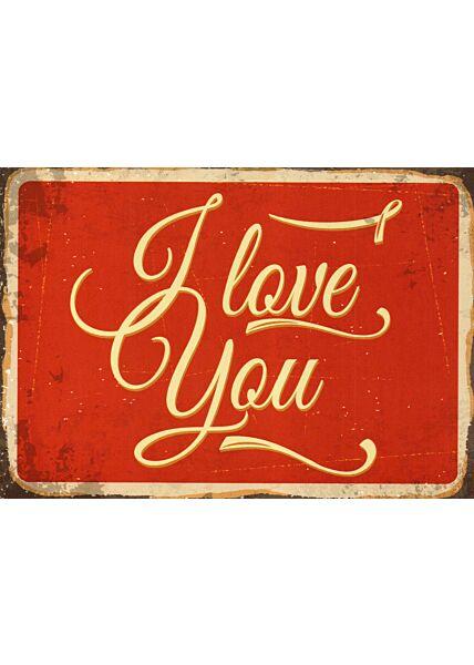 Postkarte Liebe Spruch I love you