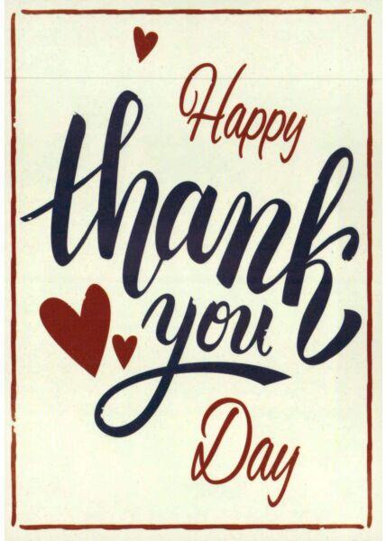 Postkarte Liebe Grüße Happy Thank You Day