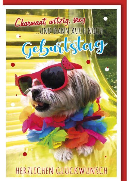 Geburtstagskarte lustig Charmant, witzig, sexy