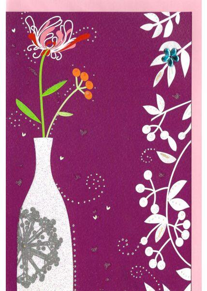 Blankogrußkarte ohne Text Ilustration Vase