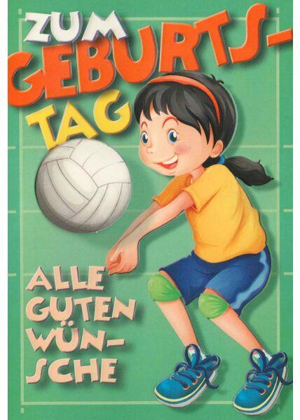 Geburtstagskarte Frauen Volleyball