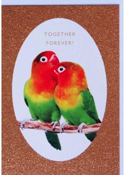 Hochzeitskarte Glitzerlack originell Together Forever!