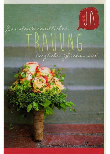 Glückwunschkarte Hochzeit Trauung Standesamt