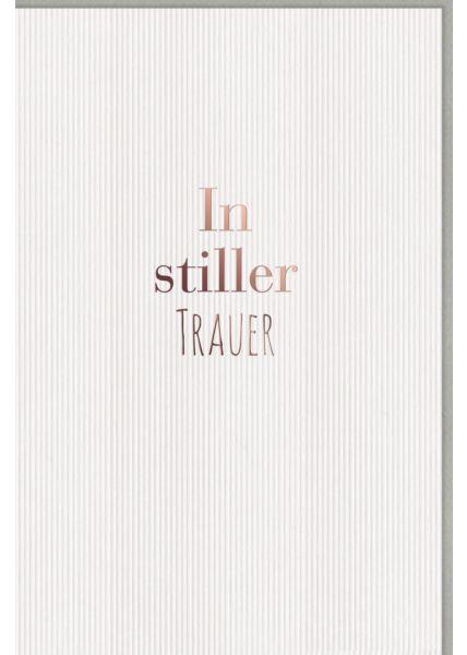 Trauerkarte exklusiv, mit brauner Folie, Snow White Creative Paper