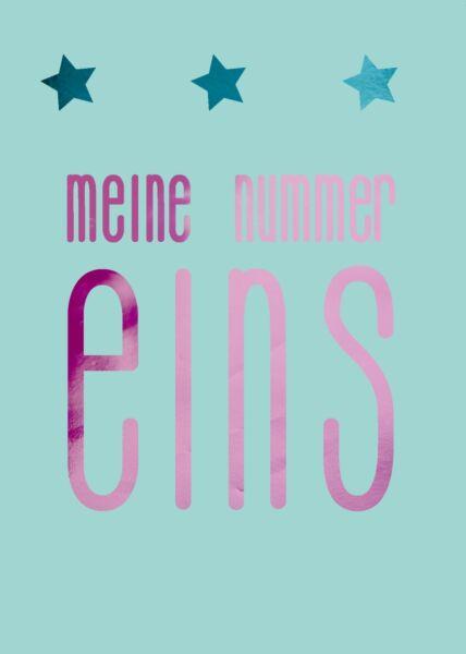 Postkarte Liebe Spruch meine nummer eins