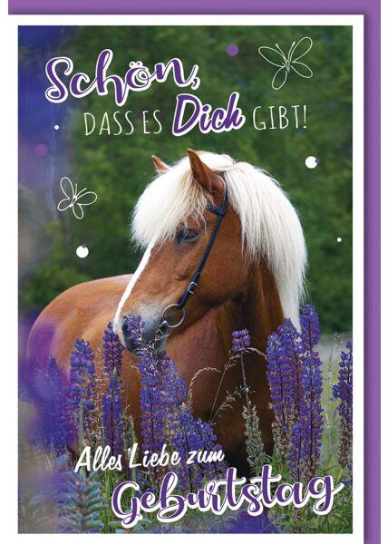Geburtstagskarte Schön, dass es Dich gibt Pferd