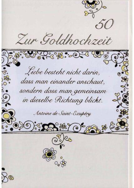 Goldhochzeit: Zitat Antoine de Saint-Exupéry