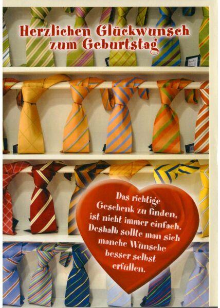 Geburtstagskarte für Männer Krawatten