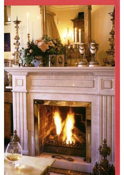 Klassische Weihnachtskarte Bild Kamin