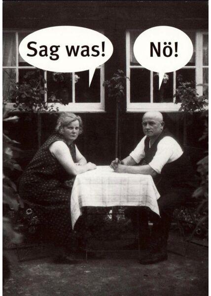 Postkarte lustig Sag was! nö!