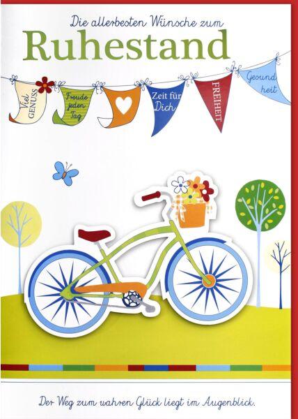Ruhestandskarte - A4, Maxi, XXL Fahrrad