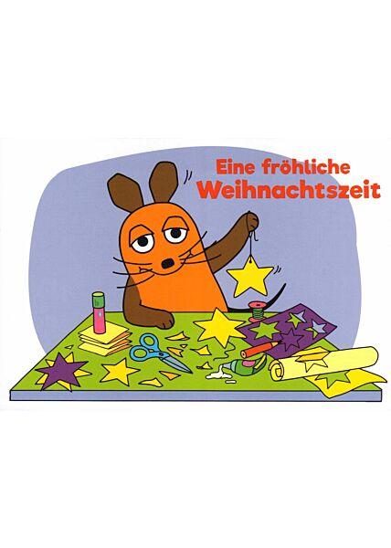 Maus-Postkarte Eine fröhliche Weihnachtszeit