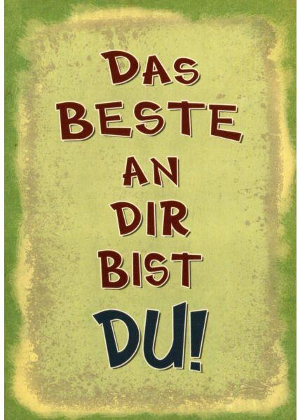 Postkarte Freundschaft Motiv Das Beste an Dir bist Du!