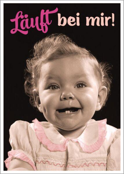 Postkarte Spruch lustig Läuft bei mir!