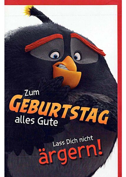 "Kindergeburtstagskarte Angry Birds ""lass Dich nicht ärgern"""