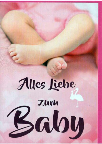 Glückwunschkarte Geburt Mädchen: Beine