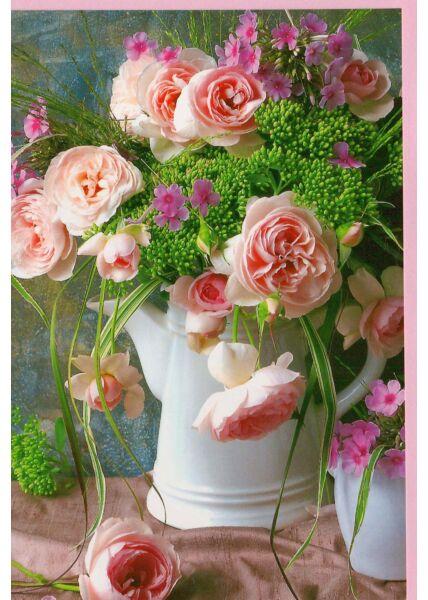Grußkarte ohne Text bunter Blumenstrauß
