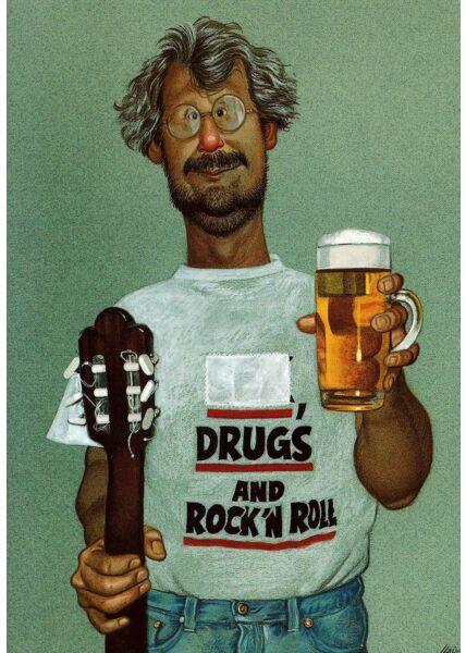 Postkarte lustig rock and roll Männer