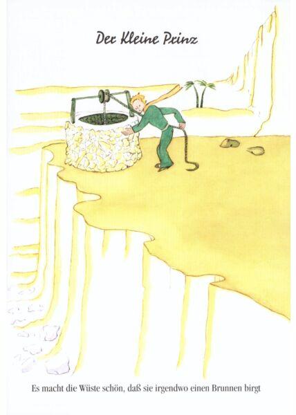 Postkarte Der kleine Prinz Es macht die Wüste schön...