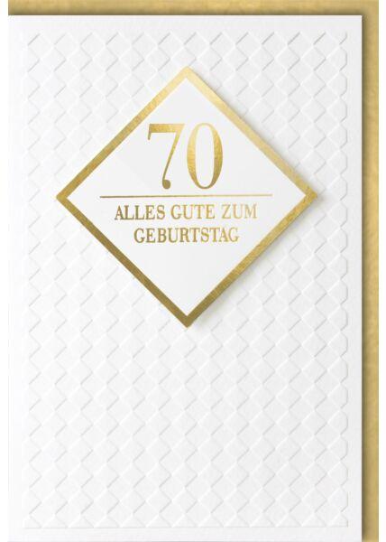 Geburtstagskarte 70 Jahre Premiumqualität Alles Gute