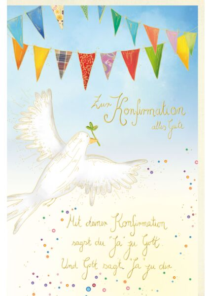 Glückwunschkarte Konfirmation Spruch Gott sagt ja zu dir
