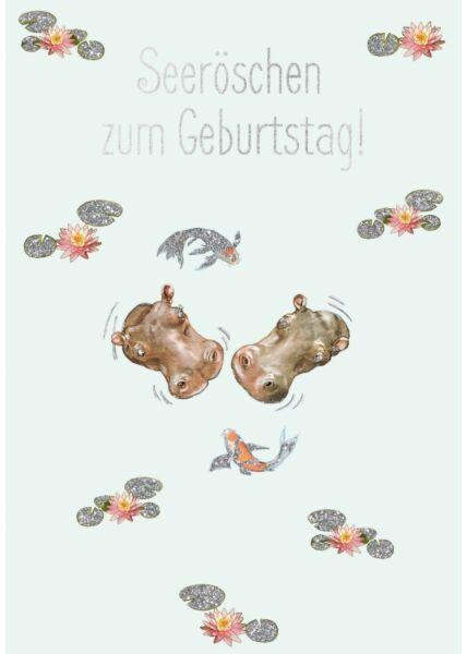 Postkarte Spruch witzig Cityproducts Seeröschen zum Geburtstag!