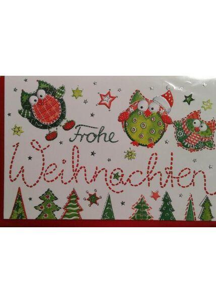 Weihnachtskarte: Frohe Weihnachten