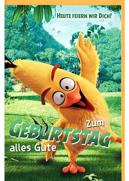 "Kindergeburtstagskarte Angry Birds ""heute feiern wir Dich"""