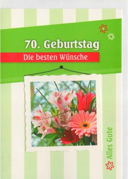Geburtstagskarte 79 Blumen und grün