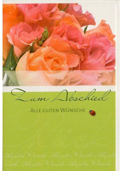 Abschiedskarte Blumen alle guten Wünsche