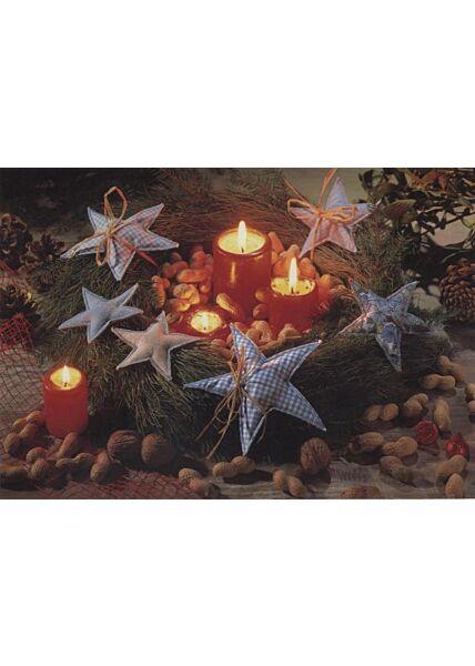 Klassische Weihnachtskarte blanko: Weihnachtskranz
