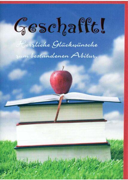 Karte Abitur: Geschafft!