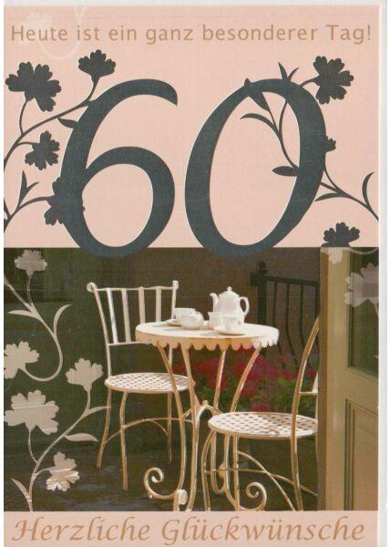 Geburtstagskarte 60 heute ist ein ganz besonderer Tag