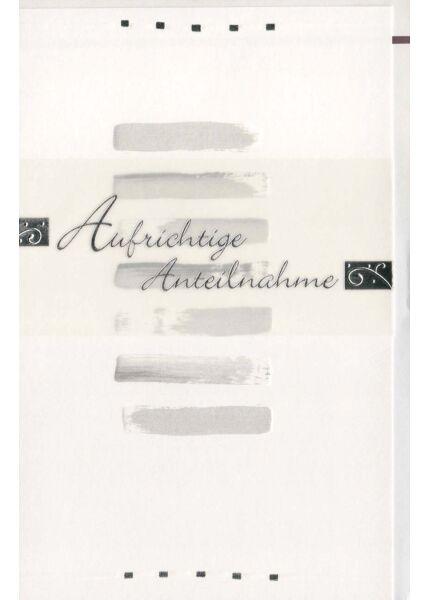Kondolenzkarte mit edlem Papier und Veredelungen