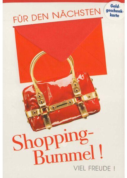 Karte für Geldgeschenk mit Mini-Umschlag Shoppingbummel