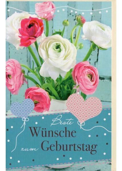 Geburtstagskarte liebevoll Blumenstrauß