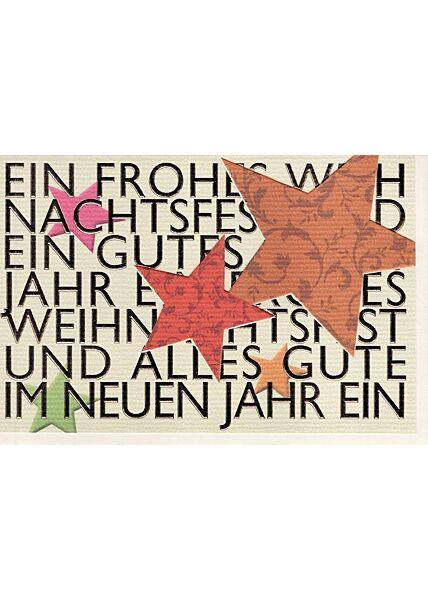Weihnachtsgrußkarten;Neujahrskarten Hochwertige Weihnachtsgrußkarte modernes Design premium