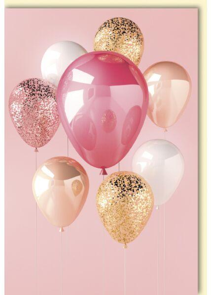 Blankokarte edel flow Luftballons